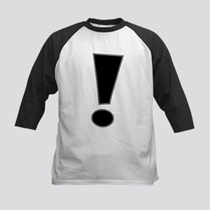 Black Whee Exclamation Point Baseball Jersey