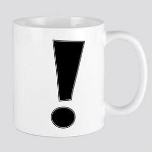Black Whee Exclamation Point Mugs