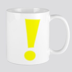 Yellow Whee Exclamation Point Mugs