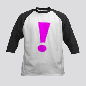 Magenta Whee Exclamation Point Baseball Jersey