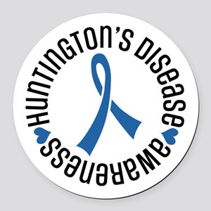 Huntingtons Disease Awareness Round Car Magnet