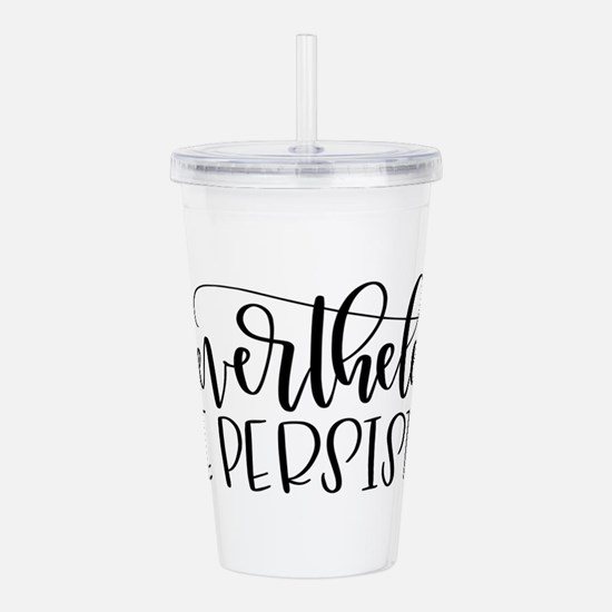 Nevertheless, She Pers Acrylic Double-wall Tumbler