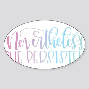Nevertheless, She Persisted rainbow Sticker