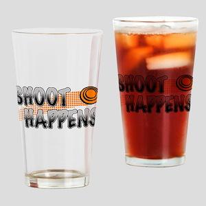 Shoot Happens Drinking Glass