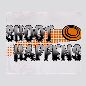 Shoot Happens Throw Blanket