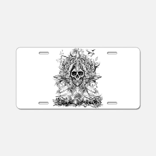 The Tentacle Wave Aluminum License Plate