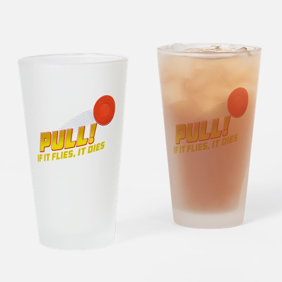 Pull! Trap Shooting Drinking Glass