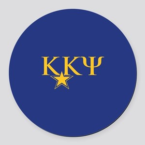 Kappa Kappa Psi Fraternity Round Car Magnet