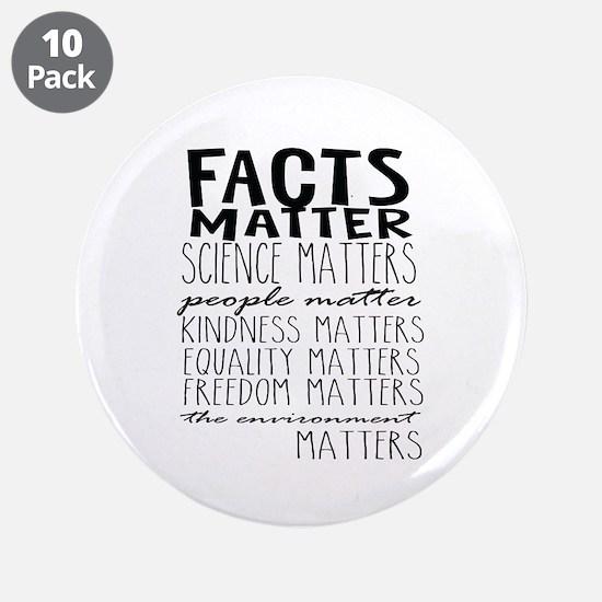 """Facts Matter 3.5"""" Button (10 Pack)"""