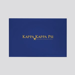 Kappa Kappa Psi Fraternity Name a Rectangle Magnet