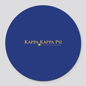 Kappa Kappa Psi Fraternity Name a Round Car Magnet