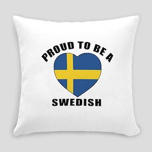Swedish Patriotic Designs Everyday Pillow