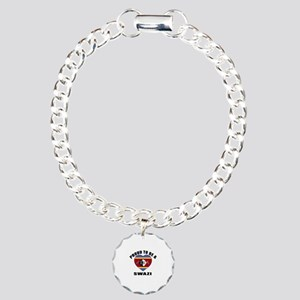Swazi Patriotic Designs Charm Bracelet, One Charm