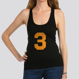 3 ORANGE # THREE Racerback Tank Top