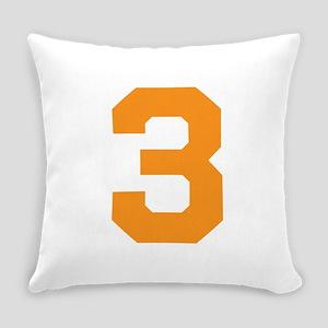 3 ORANGE # THREE Everyday Pillow