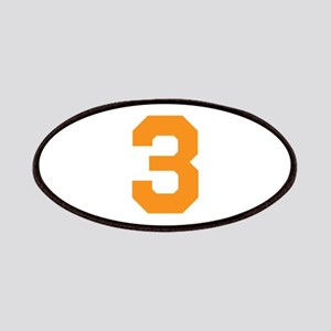 3 ORANGE # THREE Patch