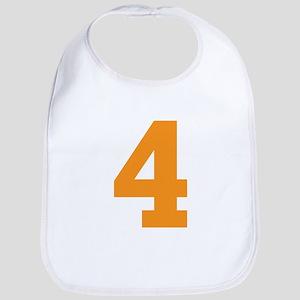 4 ORANGE # FOUR Cotton Baby Bib