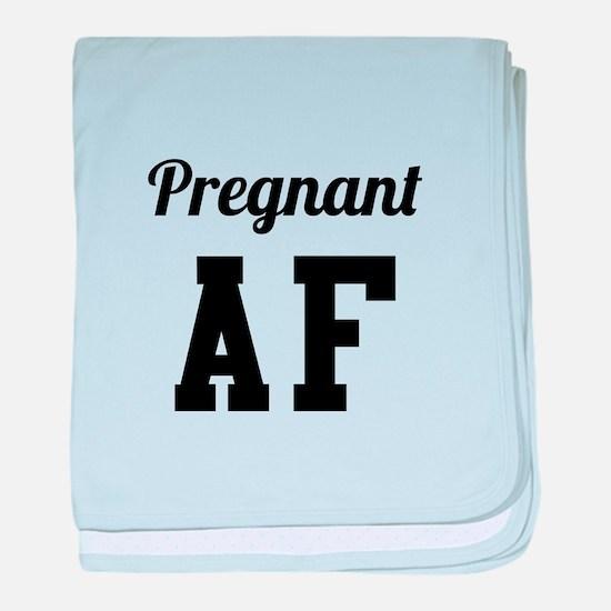 Pregnant AF baby blanket