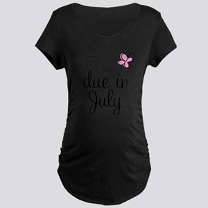Due In July Maternity T-Shirt