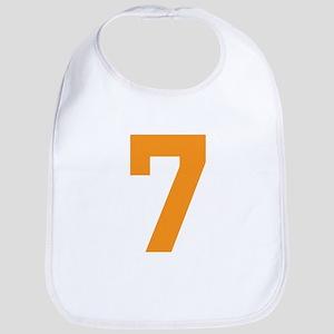7 ORANGE # SEVEN Cotton Baby Bib