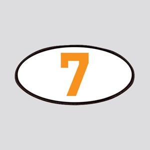 7 ORANGE # SEVEN Patch