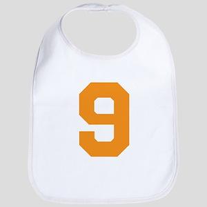9 ORANGE # NINE Cotton Baby Bib