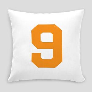 9 ORANGE # NINE Everyday Pillow