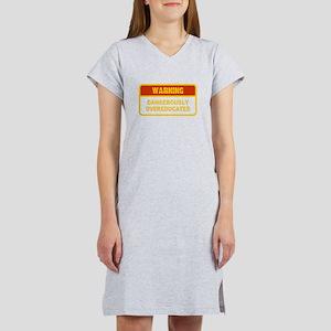 3-Warning - dangerously overeducated T-Shirt