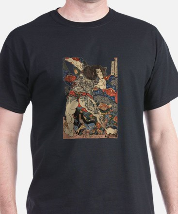 japanese tattoo warrior Samurai T-Shirt