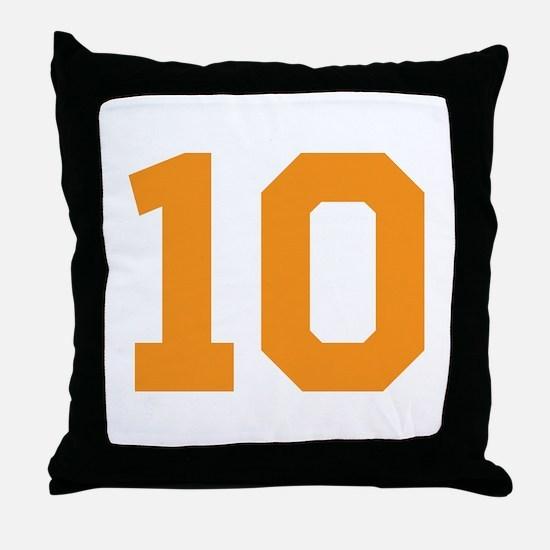 10 ORANGE # TEN Throw Pillow