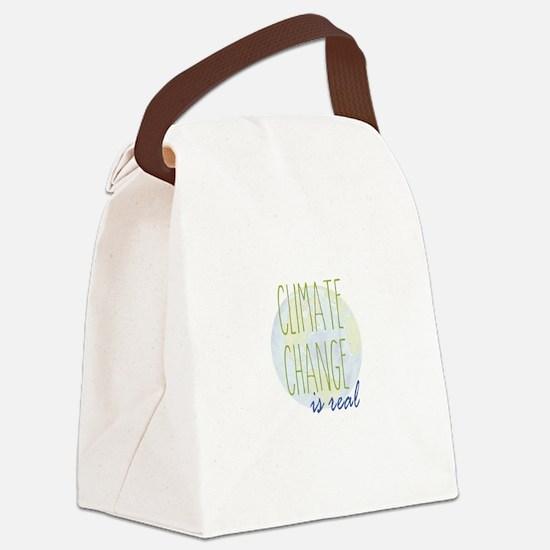 Cute Global warming Canvas Lunch Bag