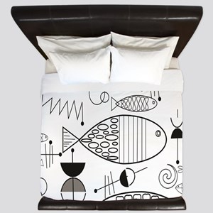 Mid-Century Fish King Duvet