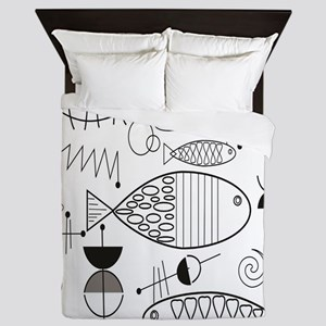 Mid-Century Fish Queen Duvet