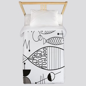 Mid-Century Fish Twin Duvet Cover