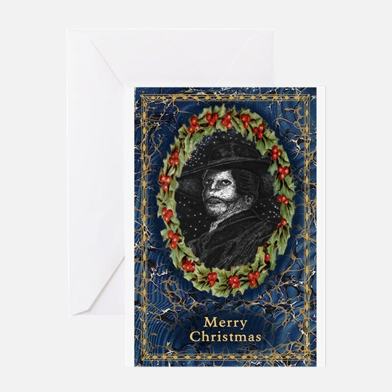 Angel Of The Night Merry Christmas Greeting Cards