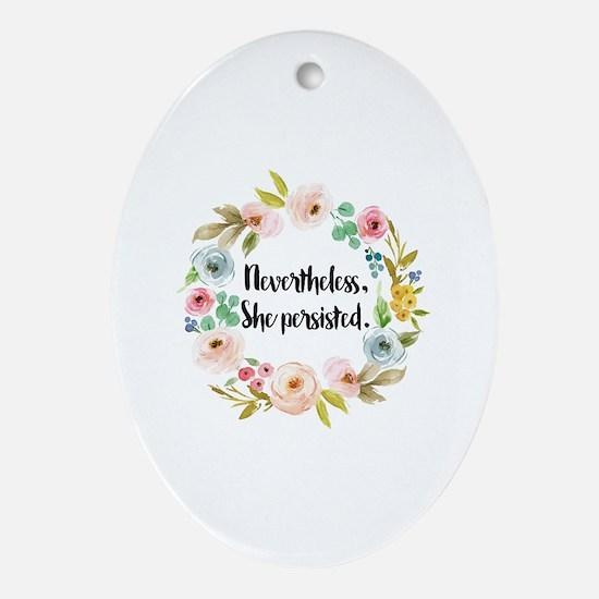Cute Feminist Oval Ornament