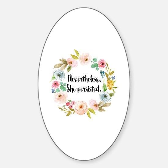 Cute Feminist Sticker (Oval)