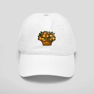 Basket of Fruit with Flowers Baseball Cap
