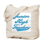 Junior High Teacher Blue Text Tote Bag