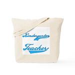 Kindergarten Teacher Blue Text Tote Bag