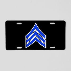 Police Sergeant (Blue) Aluminum License Plate