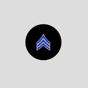 Police Sergeant (Blue) Mini Button