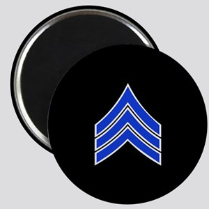 Police Sergeant (Blue) Magnets