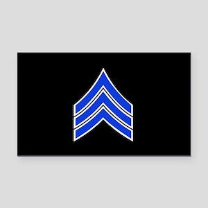 Police Sergeant (Blue) Rectangle Car Magnet