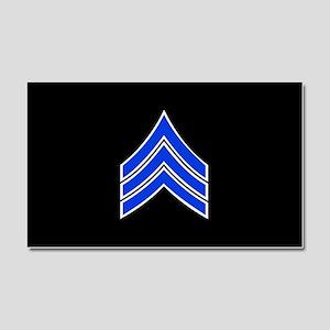 Police Sergeant (Blue) Car Magnet 20 x 12