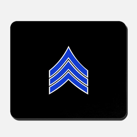 Police Sergeant (Blue) Mousepad