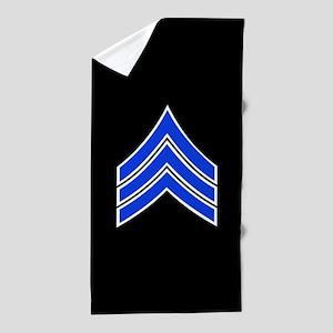 Police Sergeant (Blue) Beach Towel