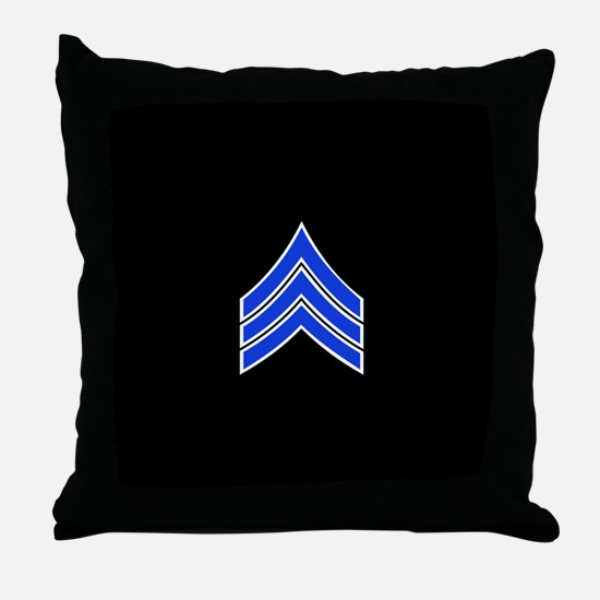 Police Sergeant (Blue) Throw Pillow