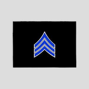 Police Sergeant (Blue) 5'x7'Area Rug