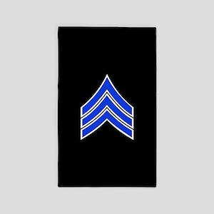 Police Sergeant (Blue) Area Rug